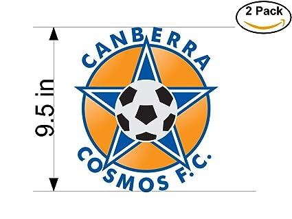 Canberra cosmos australia soccer football club fc 2 stickers car bumper window sticker decal huge 9 5