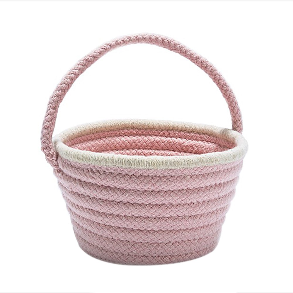 Colonial Mills Easter Home Decorative Pastel Wool Basket Blush Pink - 8x12x7, NEW