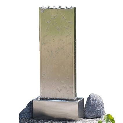 Köhko Wasserwand Ca 97 Cm Aus Gebürstetem Edelstahl Wasserspiel