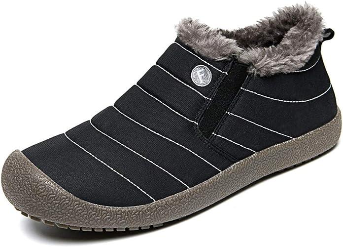 Aonegold Pantofole Uomo Invernali Ciabatte Invernali Uomo Donna Impermeabile Antiscivolo Adulto Scarpe Inverno All Aperto Interno 6822 Nero 43eu Amazon It Scarpe E Borse