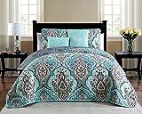 quilt clearance - Avondale Manor Odette 5-Piece Quilt Set, King, Teal