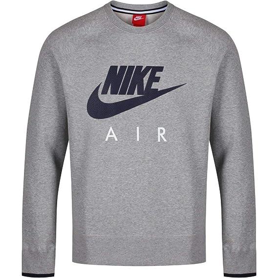 Nike, AW77 Fleece Crew Air Heritage, Pullover in Pile da Allenamento, da Uomo