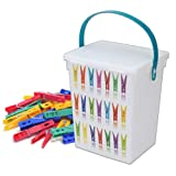 PLASTIC PEG CONTAINER LID HANDLE BOX STORAGE HOME CLOTHES LAUNDRY WASHING LINE