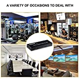 HDMI Splitter 2 in 4 Out with Remote,MOYOON 4K@60Hz 2x4 HDMI Splitter Switcher with SPDIF Audio 3.5mm,2-Port HDMI Switcher Support 4K,3D,HDMI2.0,HDCP2.2 for HDTV Blu-Ray,Fire Stick