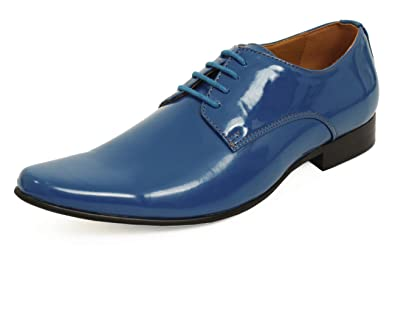 9caf706fbfa7c5 Dobell Moderne Blaue Lackschuhe  Amazon.de  Schuhe   Handtaschen