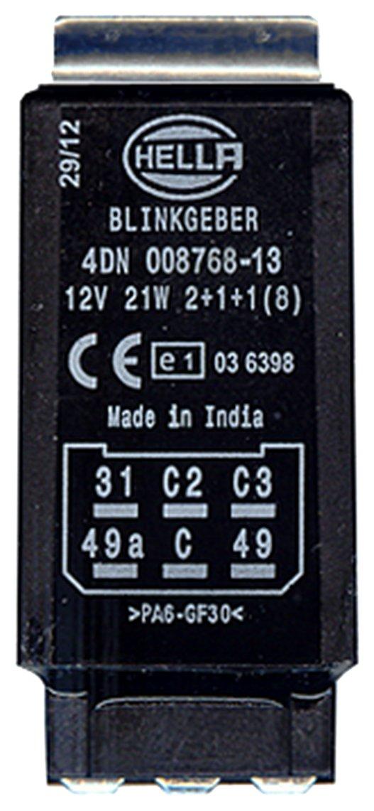 HELLA 4DN 008 768-131 Rel/é de intermitencia con soporte 12V electr/ónico