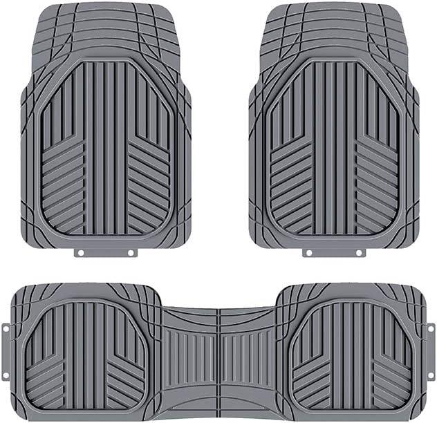 SUV et camionnettes Toutes saisons Gris Basics Lot de 3/tapis de sol en caoutchouc robuste pour voitures