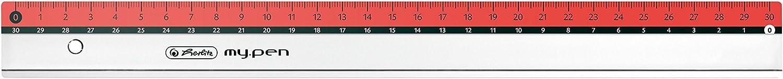 rot Herlitz Lineal my.pen 30cm Farbe