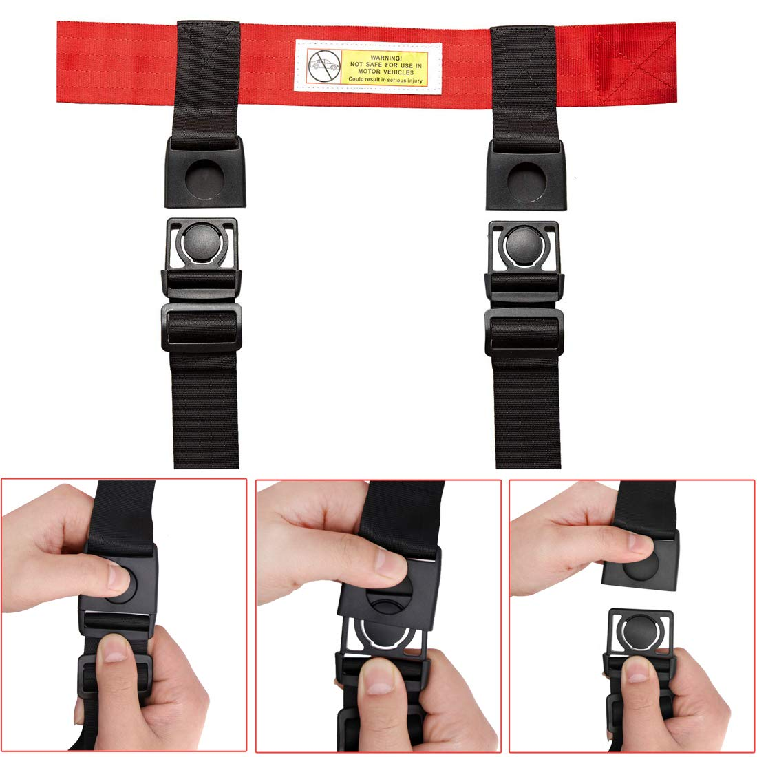 Child Airplane Travel Harness Safety Clip Strap Restraint System for Baby, Toddlers & Kids- for Airplane Travel Use Only by Together-life (Image #6)