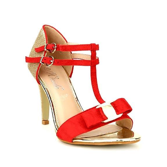 Chaussures Escarpin Red 41 Doré Cendriyon Femme Et Taille Weides wqX44zxpZ