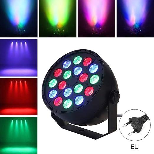 omufipw 18 Luces de Escenario LED RGB estroboscópico Efectos ...