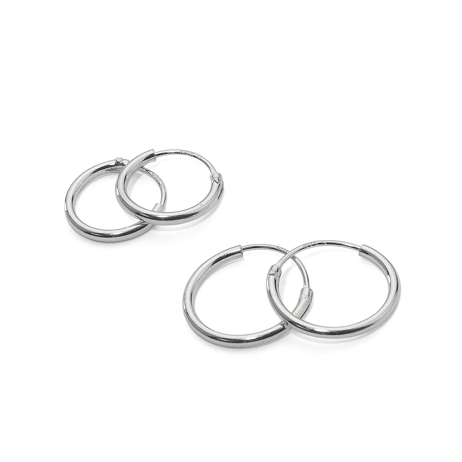 Sterling Silver Endless Earrings Cartilage Image 1
