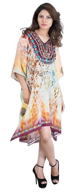 Bayside Barcelona Animal Impresión Caftan de Las Mujeres de la Impresión Digital Kimono Summer Beachwear Cover