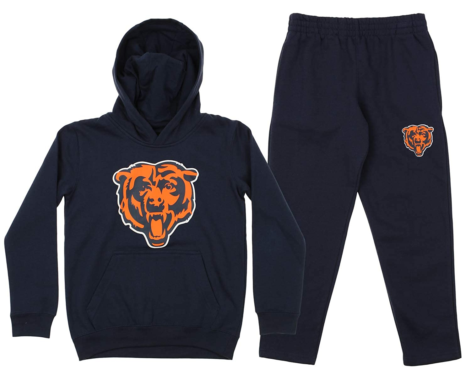 Heather Grey NFL by Outerstuff NFL Kids /& Youth Boys 4-7Icon Pullover Hood Kids Medium 5-6 Detroit Lions