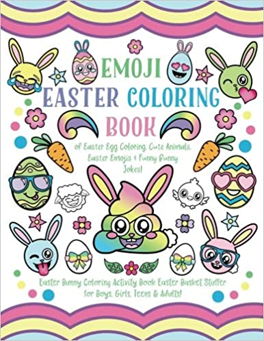 Emoji Easter Coloring Book Of Egg Cute Animals Emojis Funny Bunny Jokes Activity Basket