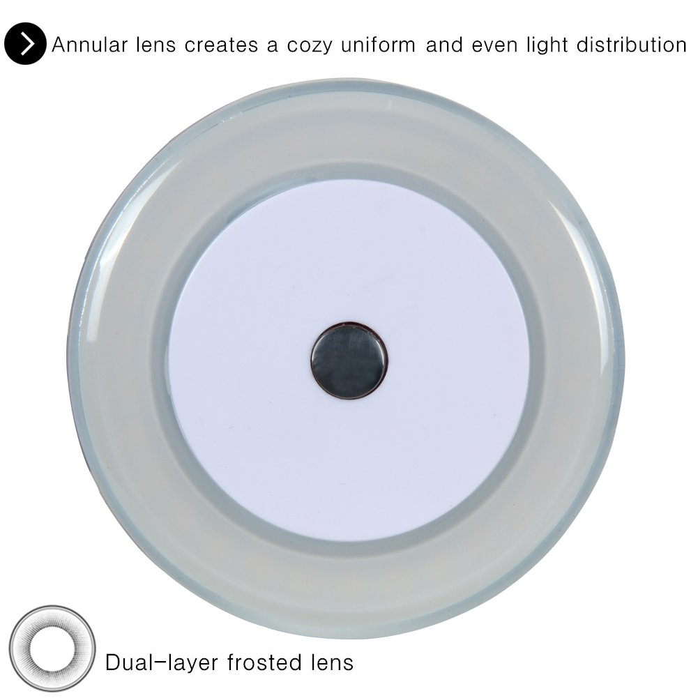 Dimmer DC 12V 2800K Soft White Memory Light Annular Frosted Lens with Stepless Dimmable Surface Mount 3W RV Boat LED Touch Ceiling Light Pack of 4 Hidden Fasteners Design for Boat Camper Ccabinet