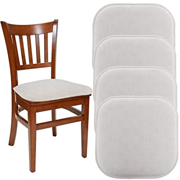Attractive DreamHome (Set Of 4) Nonslip Chair Pads For Dining Chairs Office Chairs, 16