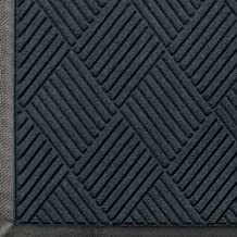 Andersen 208 Waterhog Classic Diamond Polypropylene Fiber Entrance Indoor/Outdoor Floor Mat, SBR Rubber Backing, 5-Feet Length X 3-Feet Width, 3/8-Inch Thick, Charcoal