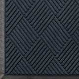 Andersen 208 WaterHog Classic Diamond Polypropylene Fiber Entrance Indoor/Outdoor Floor Mat, SBR Rubber Backing, 6' Length x 4' Width, 3/8'' Thick, Charcoal