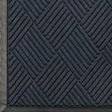 WaterHog Diamond-Pattern Commercial Grade Entrance Mat, Indoor/Outdoor Floor Mat 6' Length x 4' Width, Charcoal by M+A Matting