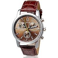 Noopvan Clearance Deal Watch, reloj analógico de cuarzo para hombre, piel sintética, piel de cocodrilo