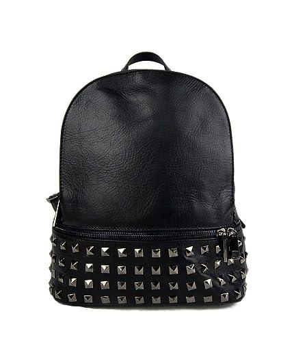 Mochila de cuero mujer mochila piel mochila pequena piel negro bolso de espalda mochila de viaje