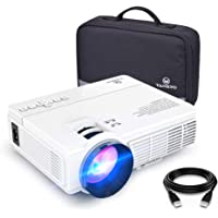 VANKYO LEISURE 3 (Upgraded Version) 2400 LUX LED Portable Projector with Carrying Bag, Video Projector with 170'' Display and 1080P Support, Compatible PS4, HDMI, VGA, TF, AV and USB with HDMI Cable (White)