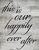Rustic BARN Wood Pallet Sign – This is Our Happily Ever After – Size 14 x 18 Rustic Distressed Pallet Signs Handmade with Real Wood Ready 2 Hang Art That Will Look Perfect on Your Family Wall Review