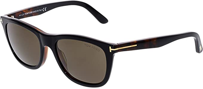3a58e1ae948e Image Unavailable. Image not available for. Color  Tom Ford FT0500 05J  Black Dark Havana Andrew Square Sunglasses ...
