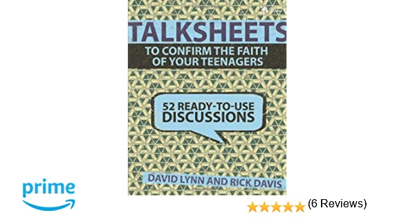Workbook bible worksheets for middle school : TalkSheets to Confirm the Faith of Your Teenagers: 52 Ready-to-Use ...