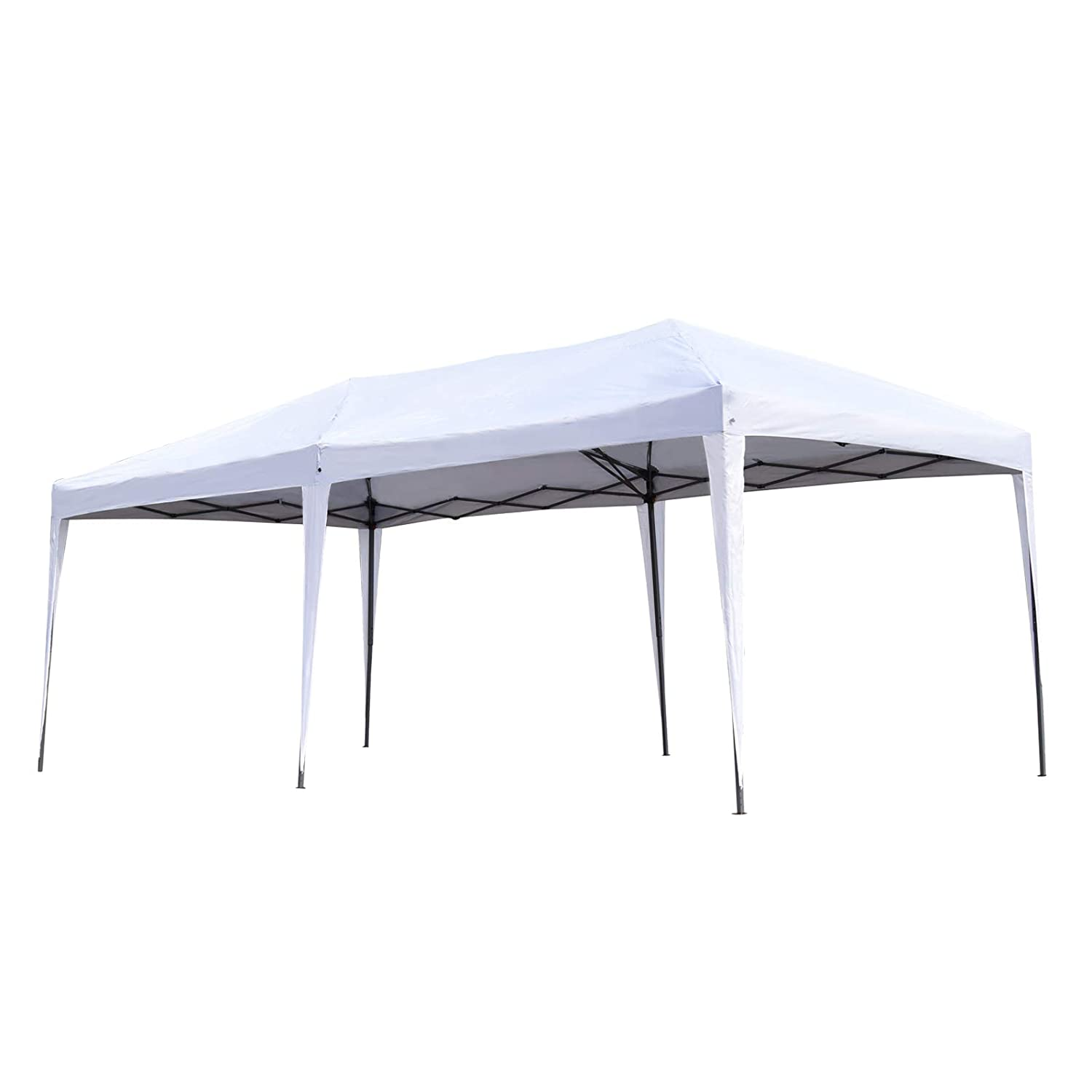 Ez Up Canopy 10x20 >> Outsunny Easy Pop Up Canopy Party Tent 10 X 20 Feet White