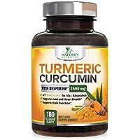 Turmeric Curcumin with Bioperine 95% Curcuminoids 2600mg with Black Pepper for Best...