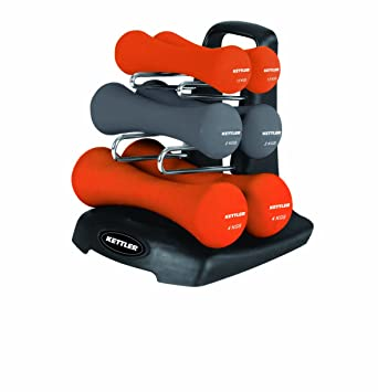 Kettler Neoprene Dumbbell Set With Rack: Amazon.es: Deportes y aire libre