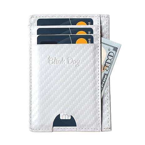 Tarjetero Para Tarjetas de Crédito, Cartera Tarjeta Hombre Pequeñas, Mini Billetera Monedero Minimalista y