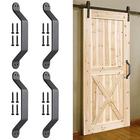 """Yescom 8,7 """"granero (hierro fundido, mango pull puerta cobertizo armario"""