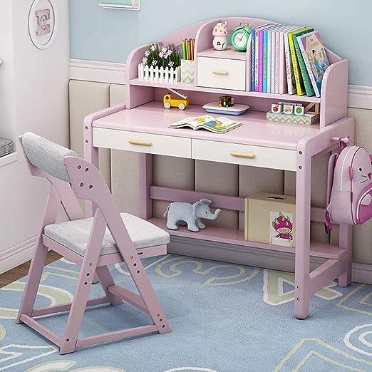 Escritorio de madera Estudio for niños mesa de Escritorio con ...
