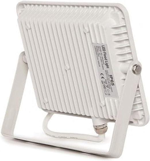 Proyector Led IP65 FactorLED 50W Foco Exterior Led Osram chip iluminaci/ón profesional A++ Blanco C/álido 3000K 50 Floodlight No Flicker