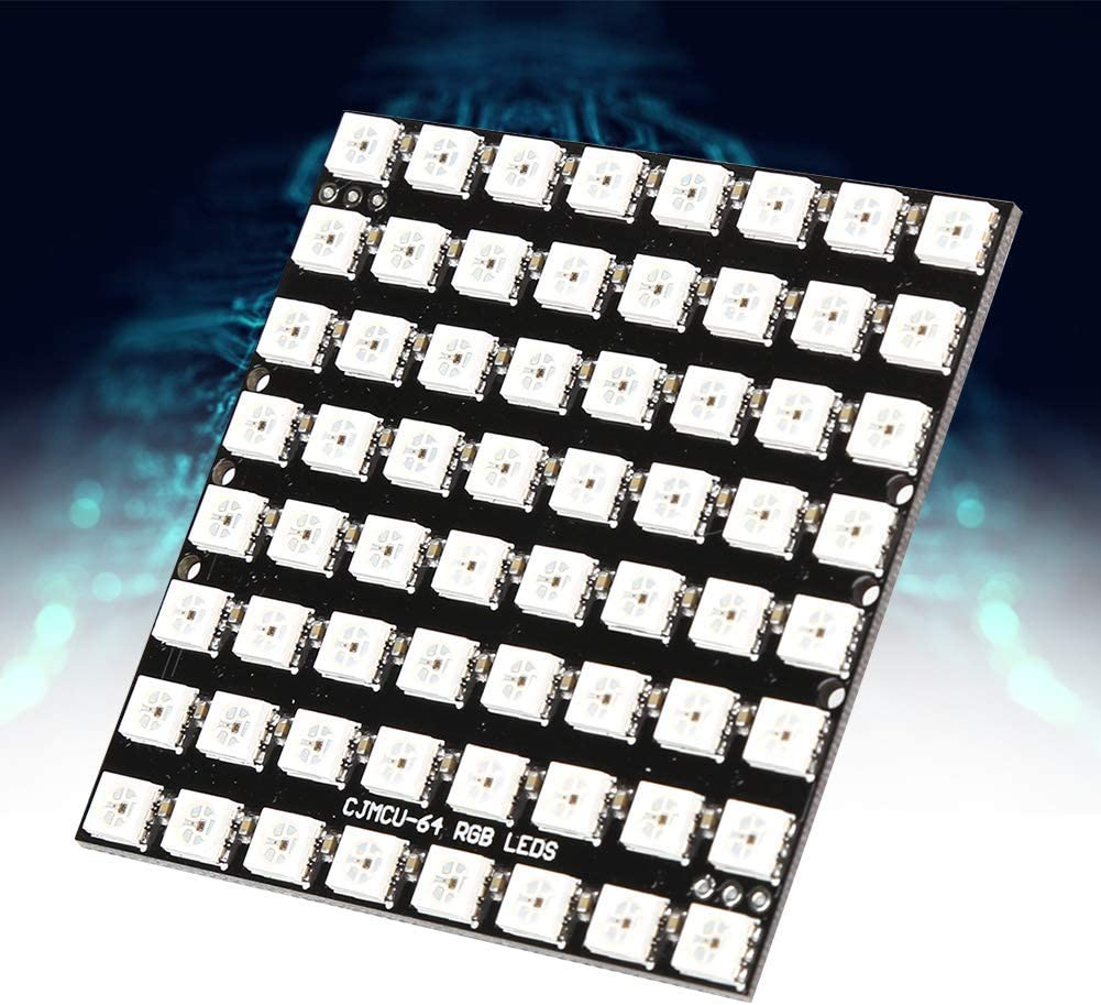 8X8 64 Pixels Digital LED Panel WS2812 5050 RGB LED Development Board High Brightness DC5V with Built-In Full Color Driver Modules CE