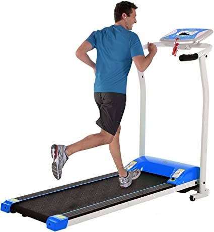 Electric Folding Treadmill for Small Spaces Ultra-Quiet Portable Exercise Running Machine for Home Workout with 12 Programs /& LCD Screen
