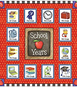 School Years Memory Scrap Book Album Red Star 24 Pockets