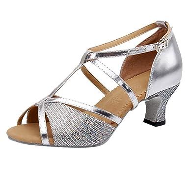 new arrivals 09315 ee7f4 Alaso - Scarpe da danza latina standard da donna e ragazza ...