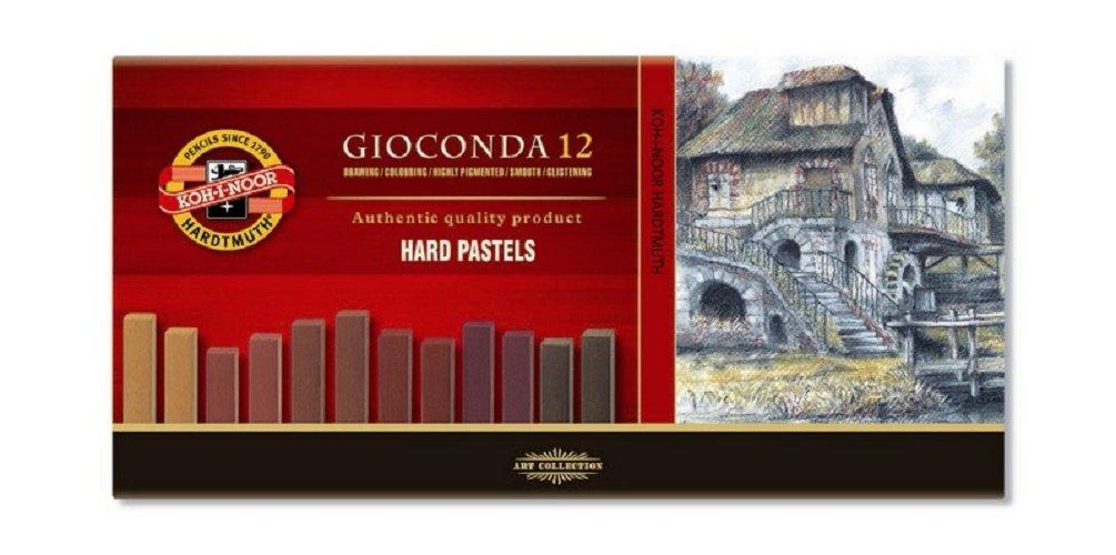KOH-I-NOOR GIOCONDA 8122 Set of Artist's Hard Pastels - Brown 8122012002BR
