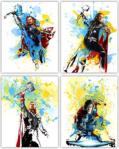 Thor Movie Poster Wall Decor - Chris Hemsworth as the Mighty God of Thunder in our Wall Art Collection - Set of 4 8x10 Photos]()