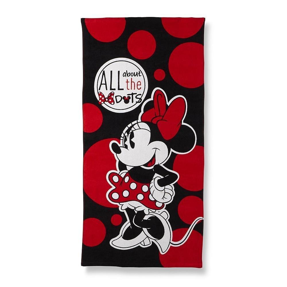 Minnie Mouse Beach Towel, Disney Kids Bows & Dots