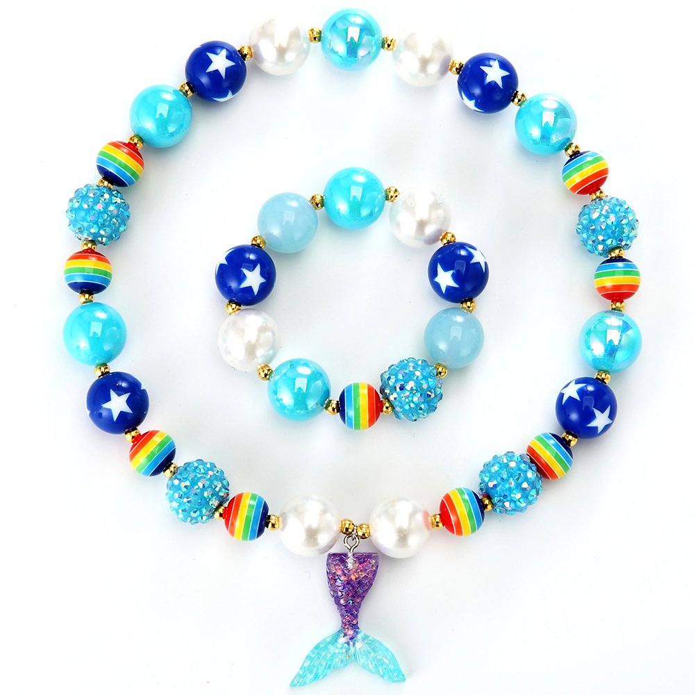 Chunky Bead Jewelry Emoji Necklace Emoji Party Outfit Toddler Necklace for Girls