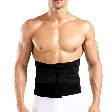 0e5422d977 Zhhlaixing Mens Waist Trimmer Belt Sport Trainer Belt Trainning Trimmer  Belt Adjustable Breathable Back   Lumbar