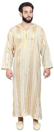 26f3596a9f0 Amazon.com: Moroccan Men Djellaba Handmade Embroidered Breathable ...