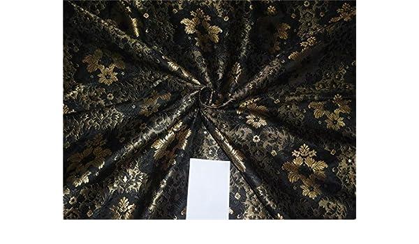 Puresilks - Espuma de Seda Resistente, Color Negro y Dorado ...