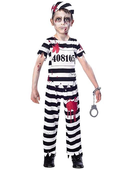 Fancy Me Disfraz de preso de Zombie Blanco y Negro para ...