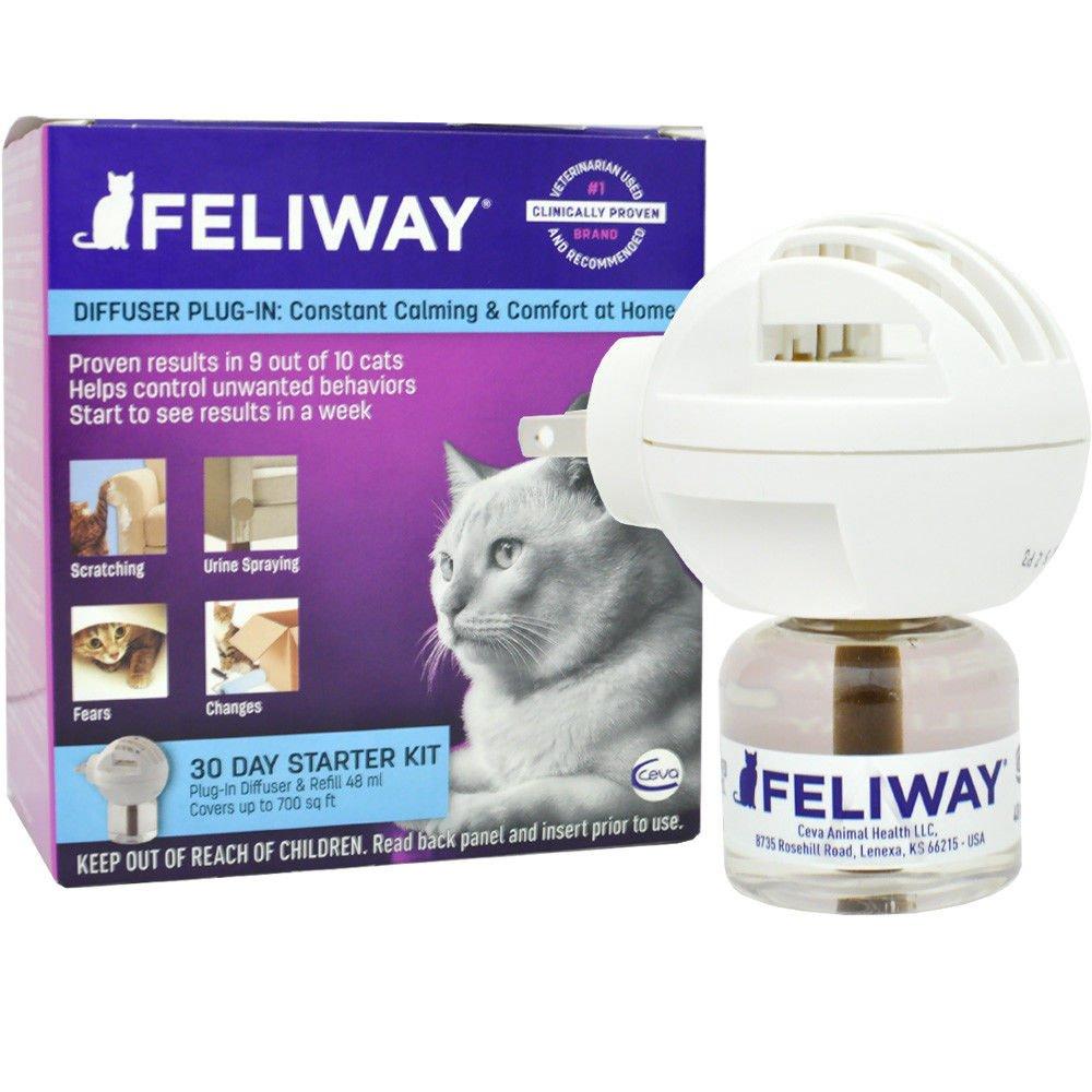 Feliway Feline Pheromone Diffuser Starter Kit (48 M L) by Feliway